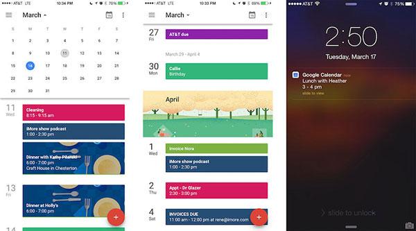 اپلیکیشن Google Calendar