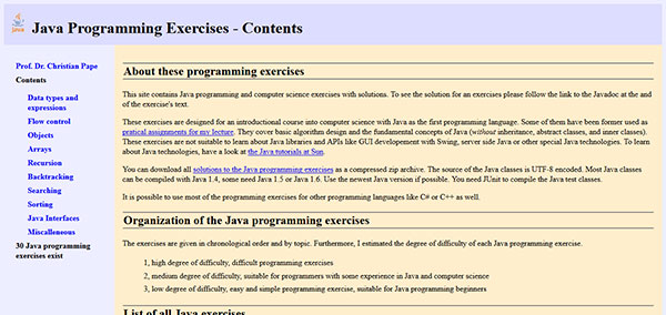 تمرینات زبان برنامه نویسی جاوا