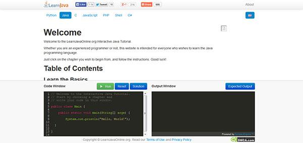 یادگیری زبان برنامه نویسی جاوا به صورت آنلاین