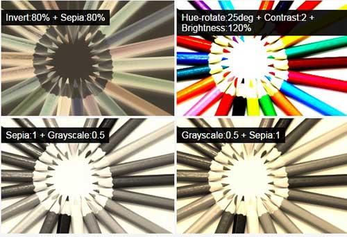 ترکیب فیلترها در طراحی وب سایت
